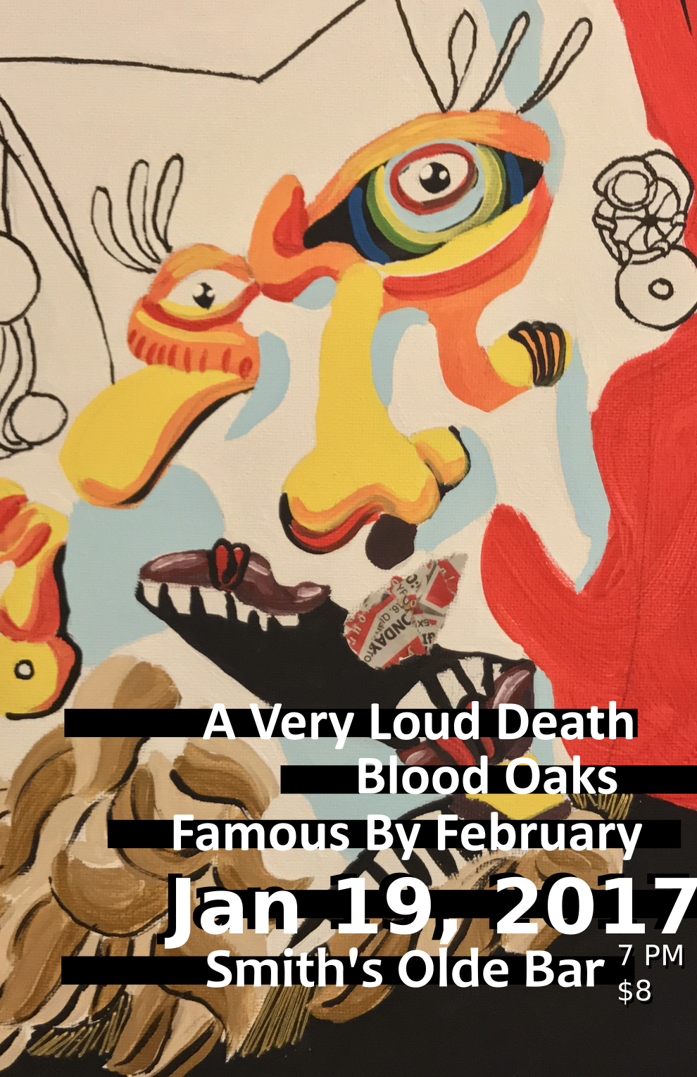 A Very Loud Death – The Smith's Olde Bar Flyer